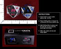 Dice : MINT50 LOOT CRATE 20 SIDED CHILLING DICE