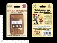 Dice : MINT58 STEVE JACKSON GAMES MUNCHKIN SHAKESPEARE DRAMA DICE
