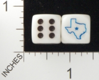Dice : D6 OPAQUE ROUNDED SWIRL CHESSEX CUSTOM 40 FOR JSPASSNTHRU TEXAS