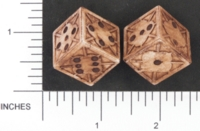 Dice : D6 OPAQUE SHARP SOLID BRIANS BAZAR UNNAMED 02
