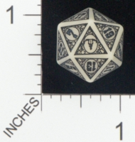 Dice : D20 OPAQUE ROUNDED SOLID CHESSEX CUSTOM FOR JOHN PETTIT OLD WEST 01