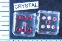 Dice : STONE D6 CRYSTAL