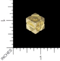 Dice : MINT56 TRAYSER METAL WORKS BRASS D6 FUDGE FLAT