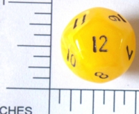 Dice : D12 OPAQUE ROUNDED SWIRL 2
