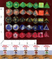 Dice : MINT41 METALLIC DICE GAMES COMBO ATTACK