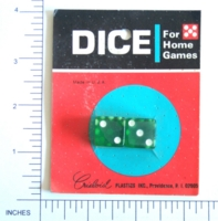 Dice : MINT6 CRISLOID GREEN ON CARD 01