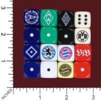 Dice : MINT54 GERMAN SOCCER FOOTBALL ARMINIA BREMEN BORUSSIA DORTMUND HAMBURG MUNICH STUTTGART
