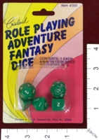 Dice : DUPS IN MINT37 CRISLOID ROLE PLAYING ADVENTURE FANTASY DICE