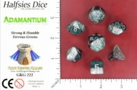 Dice : MINT52 GATE KEEPER GAMES HALFSIES DICE ADAMANTIUM