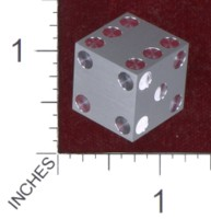 Dice : MINT36 CYBERNETIC RESEARCH LABORATORIES AMBER RIX MACHINED PRECISION DICE ALUMINIUM
