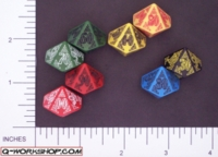 Dice : D10 OPAQUE ROUNDED SOLID Q WORKSHOP CELTIC II 04