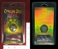Dice : MINT32 STEVE JACKSON GAMES CTHULHU DICE METAL NICKEL 01