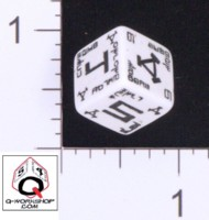 Dice : NUMBERED OPAQUE ROUNDED SOLID Q WORKSHOP UNKNOWN 03