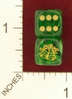 Dice : MINT22 CHESSEX FOR JSPASSINTHRU CHRISTMAS BELLS 01