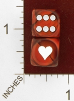 Dice : MINT26 CHESSEX CUSTOM FOR EBAY RACERSKA HEART 01