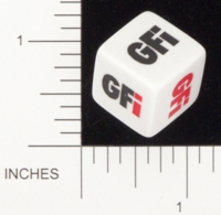 Dice : NON NUMBERED OPAQUE ROUNDED SOLID GAMESTATION DICE ROLL GFI