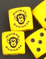 D6 OPAQUE ROUNDED SOLID MONKEY BIZ DOT COM MONKEY BUSINESS