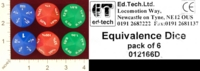 Dice : D10 OPAQUE ROUNDED SOLID ED TECH LTD EQUIVALENCE DICE 01