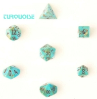 Dice : STONE MULTI CRYSTAL CASTE TURQUOISE