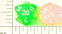 Dice : D20 TRANSLUCENT ROUNDED SOLID 1