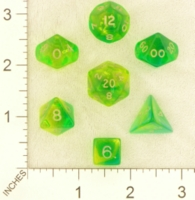 Dice : MINT23 CRYSTAL CASTE FIREFLY GREEN YELLOW