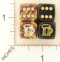 Dice : D6 OPAQUE ROUNDED SOLID SWIRL CHESSEX CUSTOM 02 FOR JSPASSNTHRU BEER
