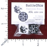 Dice : MINT48 BATTLESCHOOL BATTLEDICE EISERNES KREUZ IRON CROSS ASL 1985 2015