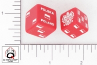 Dice : D6 OPAQUE ROUNDED SOLID Q WORKSHOP POLSKA POLAND SOUVENIR 01