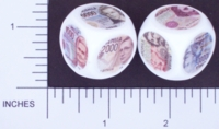 Dice : NON NUMBERED OPAQUE ROUNDED SOLID WHITE CURRENCY ITALY 01