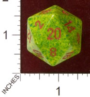 Dice : D20 OPAQUE ROUNDED SPECKLED CHESSEX UNKNOWN JUMBO
