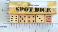 Dice : MINT1 BRITISH MADE DEWARS 02