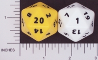 Dice : D20 OPAQUE ROUNDED SOLID FAMILY LEARNING 01
