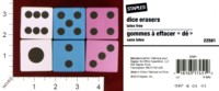 Dice : MINT32 STAPLES DICE ERASERS 01