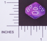 Dice : D10 OPAQUE ROUNDED SWIRL CHESSEX WILD 02