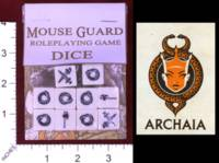 Dice : MINT31 ARCHAIA MOUSE GUARD ROLEPLAYING GAME DICE 01