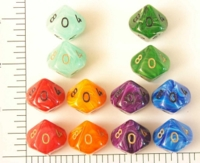 Dice : D10 OPAQUE ROUNDED SWIRL CC SILK 1