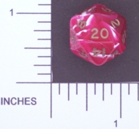 Dice : D20 OPAQUE ROUNDED SWIRL CRYSTAL CASTE UNKNOWN 01