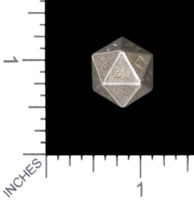Dice : MINT56 TRAYSER METAL WORKS BRONZE WHITE D20 COUNTDOWN