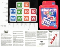 Dice : NON NUMBERED OPAQUE ROUNDED SOLID FUNDEX PHASE 10 01
