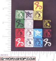 Dice : NUMBERED OPAQUE ROUNDED SOLID Q WORKSHOP CALL OF CTHULHU 01