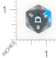 Dice : D20 OPAQUE ROUNDED SWIRL WOTC NIGHTBELOW PROMO 01