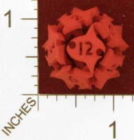 Dice : MINT25 SHAPEWAYS AEGIDIAN TOCRAX TWELVE SIDED DIE 01