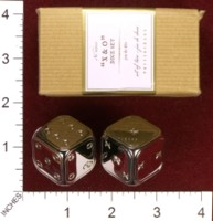 Dice : MINT34 POTTERY BARN X AND O DICE SET 01