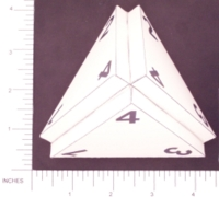 Dice : PAPER D04 MY DESIGN PROJECTED TETRAHEDRON