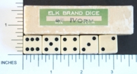 Dice : MINT1 ELK IVORY 5 FIVE EIGHTHS 02