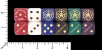 Dice : D6 OPAQUE ROUNDED IRIDESCENT CRYSTAL CASTE CUSTOM FOR DICECOLLECTOR DOT COM GENCON 2008 01