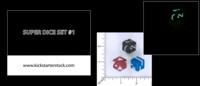 Dice : MINT54 KICKSTARTER STORE GLOBAL SUPER DICE SET 1 DELTA GRID NUMERIC