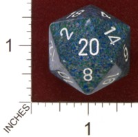 Dice : D20 OPAQUE ROUNDED SPECKLED CHESSEX SEA JUMBO 01