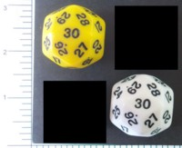 Dice : D30 OPAQUE ROUNDED SOLID 1