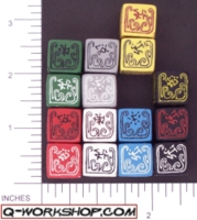 Dice : NUMBERED OPAQUE ROUNDED SOLID Q WORKSHOP CALL OF CTHULHU 02
